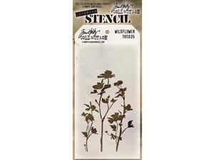 """Tim Holtz Layered Stencil 4.125""""X8.5""""-Wildflower"""