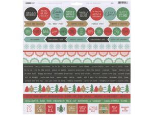 """Holly Jolly Cardstock Stickers 12""""X12""""-"""