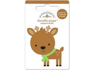 Sugarplums Doodle-Pops 3D Stickers-Dasher