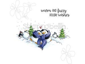 Stamping Bella EB322 Cling Stamp 6.5 x 4.5 in. - Warm & Fuzzy Penguins
