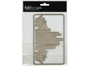 "Die-Cut Gray Chipboard Embellishments-Books W/Elephant Bookends, 6.5""X4"""