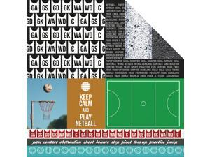 "Game On! Double-Sided Cardstock 12""X12""-Player"
