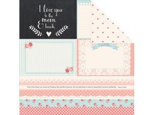 "Xo Double-Sided Cardstock 12""X12""-Deeply"