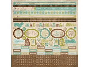 "Heirloom Cardstock Sticker Sheet 12""X12""-"