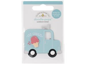 Sunkissed Doodle-Pops Embellished 3-D Stickers-Ice Cream Truck