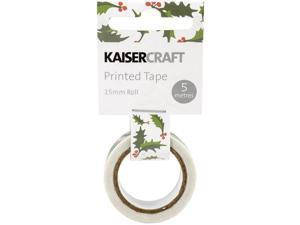 "Kaisercraft Printed Tape .5""X16.5'-Holly"