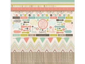 "Bow & Arrow Cardstock Stickers 12""X12""-"