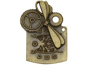Brass Embellishments 15/Pkg-Steampunk Clock