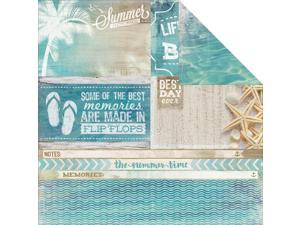 "Sandy Toes Double-Sided Cardstock 12""X12""-Waves"
