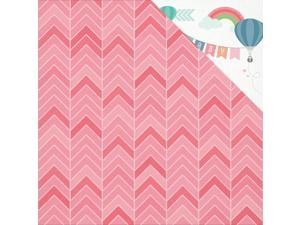 "Little One Double-Sided Cardstock 12""X12""-Ruby"