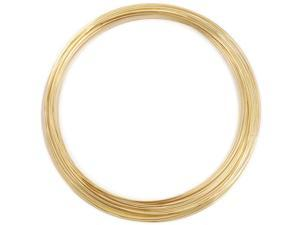 Memory Wire Necklace .62mm .5oz-Gold-Plated - 18 Coils
