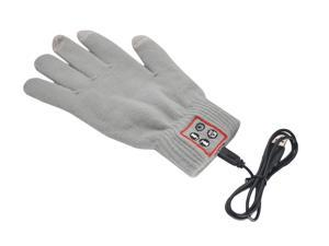 VWTECH Handsfree call Talking & Touch Screen, Knit Braided Gloves With Conductive Fingertips For Smartphone - Gray