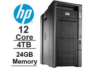 12 CORE COMPUTER with 24 Hyperthreads | HP Z800 Workstation | 2 x SIX CORE Xeon 3.46GHz |*NEW* 4TB HDD| 500GB SSD | 24GB DDR3 RAM - WIFI - Quad Video Output - DVD-RW - Windows 7 Pro.