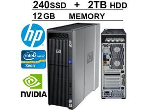 HP Z600 Workstation- Hex Core 3.06 - 250GB SSD + 2TB HDD - 12GB DDR3 - WIFI - NVIDIA QUADRO FX4800 - DVD/CD-RW - Windows 7 Pro 64-Bit Operating System