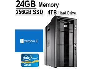 Windows 10 Workstation | 8 CORE COMPUTER with 16 Hyperthreads | HP Z800 Workstation | 2 X Intel QUAD CORE Xeon up to 3.33GHz | 256GB SSD |*NEW* 4TB HDD | 24GB DDR3 RAM - WIFI - 4 Monitor Capable.