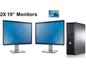 "Dell Dual Monitor Computer Bundle 19"" inch Display- Optiplex 780 Desktop- 1TB Hard Drive- 8Gb of Memory- Windows 7 Professional-"
