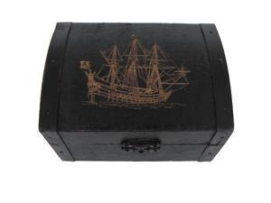 Antique Style Wooden Pirate Ship Treasure Chest