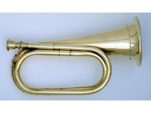 Civil War Era Solid Brass Bugle US Military Cavalry Horn New