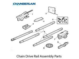 Chamberlain 41C5141-1 Complete Trolley Assembly (Square Rail)