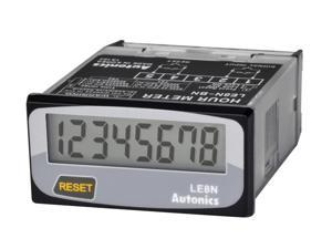AUTONICS LE8N-BN Hour Meter, 8 digits LCD, 1/32 DIN, Built-in Battery power, Selectable front reset key, No Voltage Inhibit Input