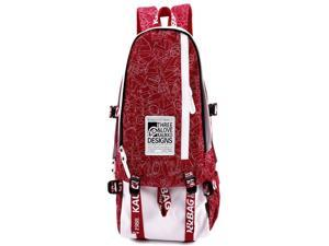 Canvas Single Shoulder Bag Backpack Daypack Handbag Rucksack Knapsack School Bag Cute Backpacks For Middle School Teenagers ( Red )