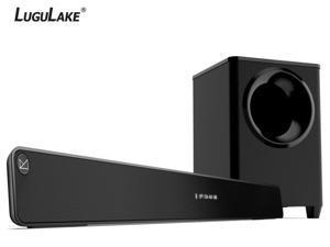 LuguLake 2.1 Channel 140watt TV Soundbar System with Wireless Subwoofer, Home Theater Sound Bar Stereo Speaker W/ Bluetooth - 36 inch