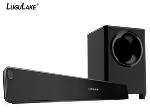 LuguLake 2.1 Channel 140 watt TV Sound Bar System, Home Theater Stereo Bluetooth Speaker 36 Inch Soundbar w/subwoofer