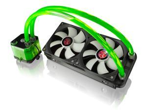 RAIJINTEK TRITON GREEN v02, All-In-One Liquid CPU Cooler with Pump, Water Block, Tank Design, 2*12025 Fans, 240mm Radiator, 2 LED Light, Fan Controller, Solid Mounting Kit