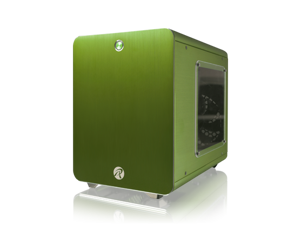 RAIJINTEK METIS  Aluminum M-ITX Case, USB 3.0* 2, Compatible with Standard ATX Power Supply, 170mm VGA Card Length, 160mm CPU Cooler Height, 120mm Performing Fan Pre-Installed, 7 Colors Option - Green
