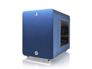 RAIJINTEK METIS  Aluminum M-ITX Case, USB 3.0* 2, Compatible with Standard ATX Power Supply, 170mm VGA Card Length, 160mm CPU Cooler Height, 120mm Performing Fan Pre-Installed, 7 Colors Option - Blue
