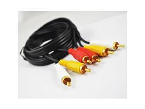 New Uk 6ft Audio Stereo Video 3 RCA Male to Male Cable