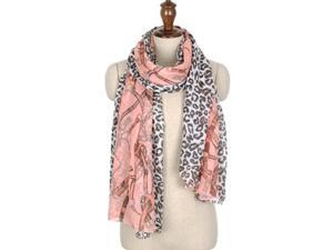 Hot! Fashion Leopard Grain Chain Scarf Voile Cotton Silk Scarf Wraps Shawl Stole