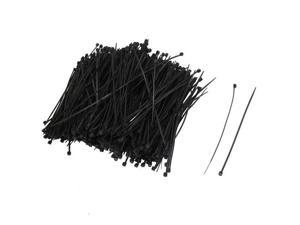 "1000Pcs 110mm x 2 mm Self Locking Wire Cable Zip Tie 4.3"" BLACK Plastic Cable"