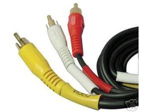 3 x RCA(L + R + V) Male to Male Composite AV Audio Video Cable 50ft For Laptop