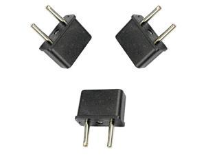 New Plug Adapter for American to European Outlet-Set of 3 USA EUROPE ASIA ROUND