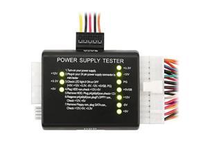 20 / 24-pin Power Supply Tester for ATX / SATA / HDD, Black