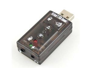 "New 2.25"" x 1.0"" x 0.50"" Gray 7.1 Channel USB External Sound Card Audio Adapter"