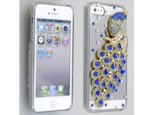 Blue Crystal Peacock Hard Case Cover for Apple iPhone 5 6th Gen Accessory