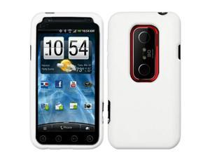 White Silicone Case / Skin / Cover for HTC EVO 3D / Evo V 4G