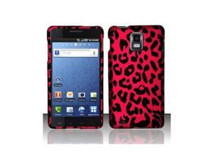 Red leopard design phone Case for the Samsung Infuse 4G