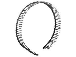 New Practical Black Metal Teeth Comb Hairband Hair Hoop Headband For Woman