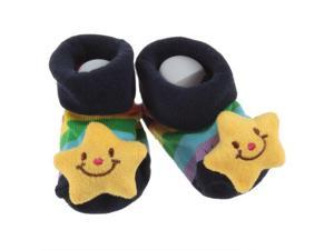 Baby toddler kids infant Newborn Girl Boy Cute Three-dimensional Cartoon Non-slip Anti-slip Slipper socking Socks Slipper Shoes Boots 3D Bootie Socks 0-12 Month New Born (Star)