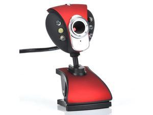 New USB 50.0M 6 LED Webcam Camera WebCam With Mic for Desktop PC Laptop