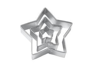 Star Cut Outs Cookie Cutters,Set of 3