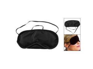 2 x Travel Built-in Sponge Black Elastic Strap Sleeping Mask Eye Shade