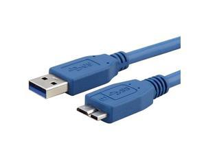 SuperSpeed USB 3.0 Cable, Type A to Type B Micro, M / M, 3 FT, Blue