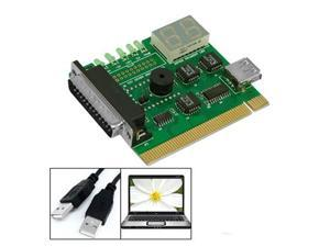 Motherboard USB & PCI Analyser Diagnostic Card Tester for Desktop & Laptop PC