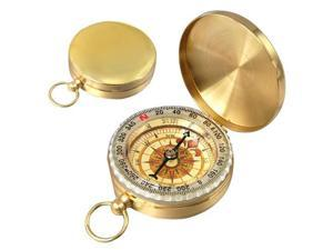 Easy Classic Metal Brass Pocket Watch Style Camping Compass Outdoor Tools Gift