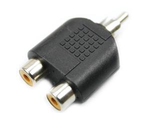5Pcs RCA AV Audio Y Splitter 1 Male to 2 Female Plug Adapter New