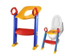 CHILD KIDS TOILET POTTY TRAINER TRAINING CHAIR STEP UP LADDER SYSTEM